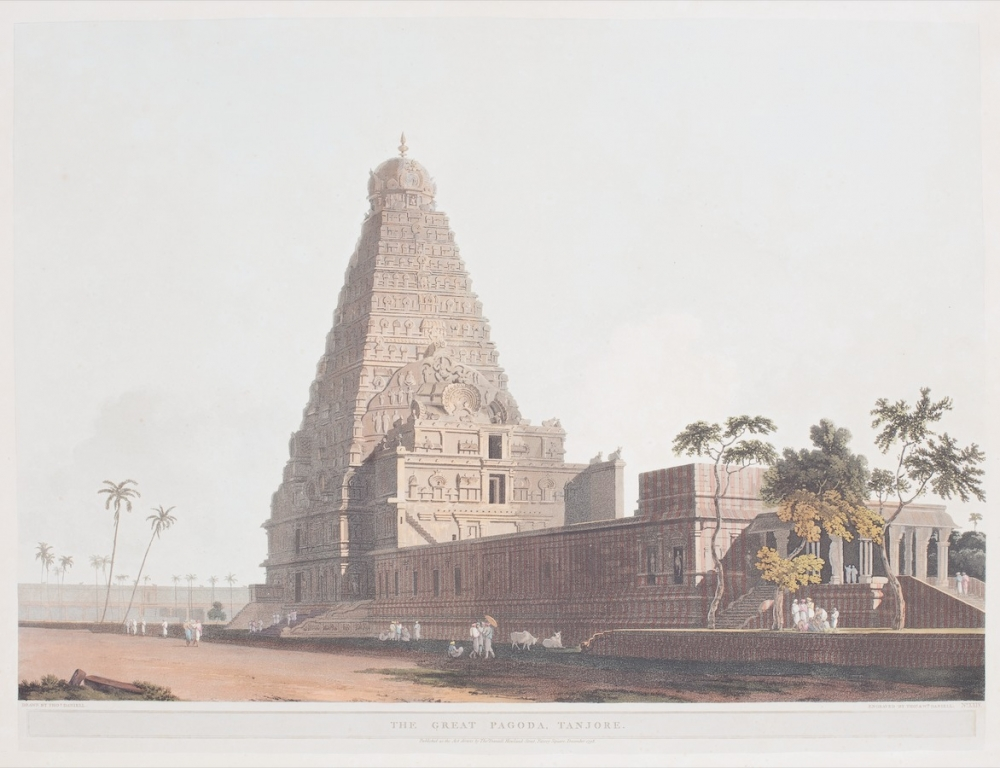 The Great Pagoda, Tanjore Drawn by Thomas Daniell; engraved by Thomas & William Daniell, December 1798