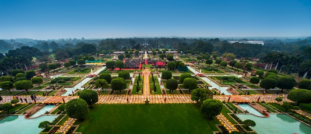 The Mughal Garden at Rashtrapati Bhavan