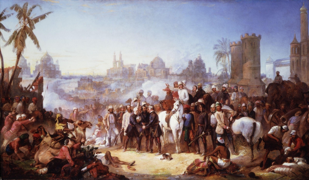 The Relief of Lucknow, 1857 by Thomas Jones Barker, Courtesy: Wikimedia Commons