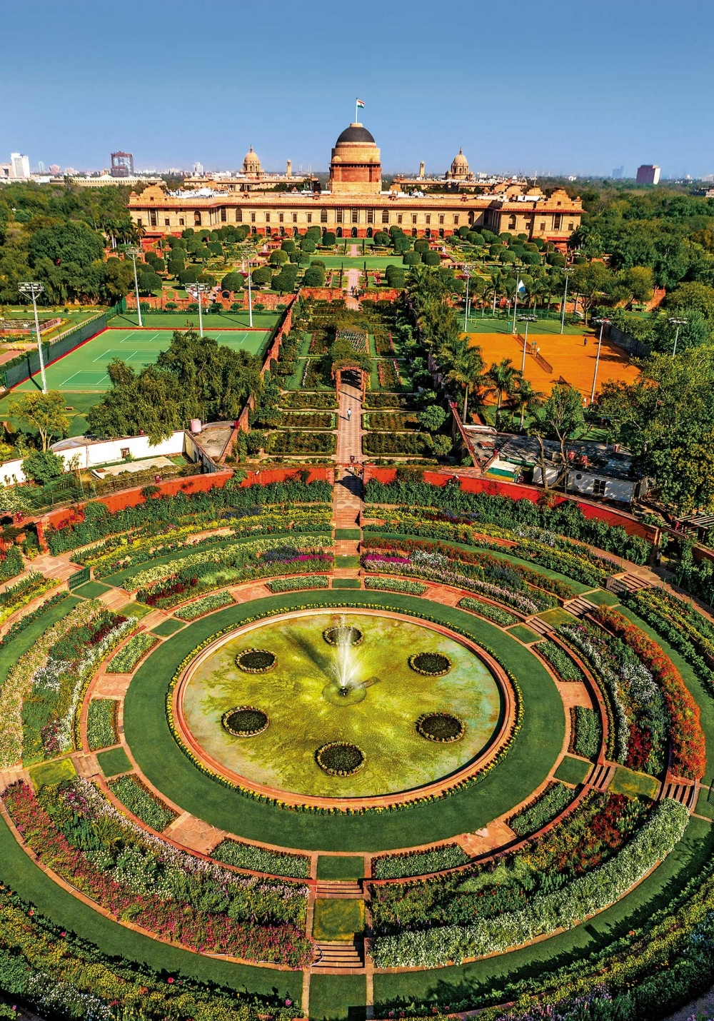 Rashtrapati Bhavan Mughal Gardens, PHOTO CREDIT - Narendra Bisht courtesy Sahapedia(dot)org