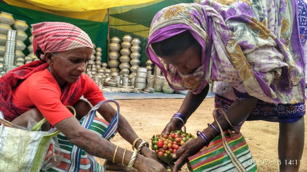 Women performing barter