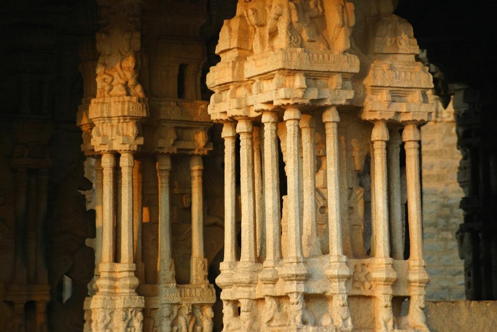 The musical pillars - Vijaya Vittala Temple Hampi, Courtesy: Vinayak Kulkarni/Wikimedia Commons