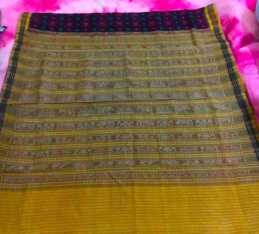 ikat traditional motifs, Bichitrapuri style, Sambalpuri, Courtesy: Sahapedia