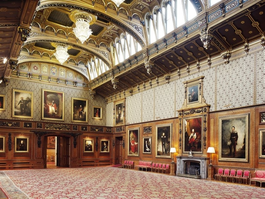 Waterloo Chamber, Indian Agra Jail carpet, Windsor Castle, Courtesy: Royal Collection Trust