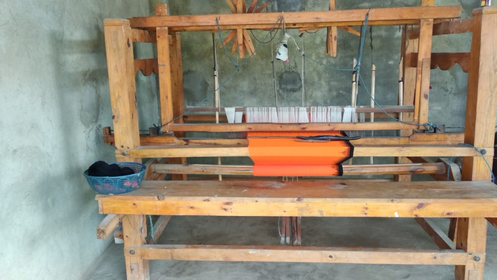 Fig. 5: The phisha kon yongkham loom is kept in the northern part of the house in a designated spot known as mangshok