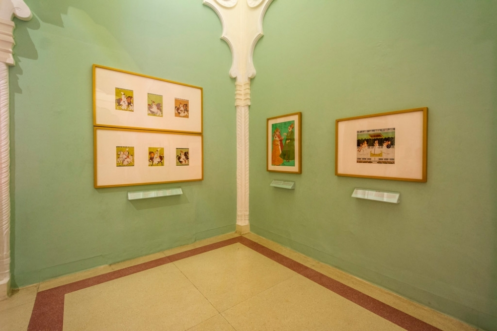 Fig. 6 The painting gallery exhibiting the Marwar paintings on the theme 'Durbar', courtly life in Marwar.