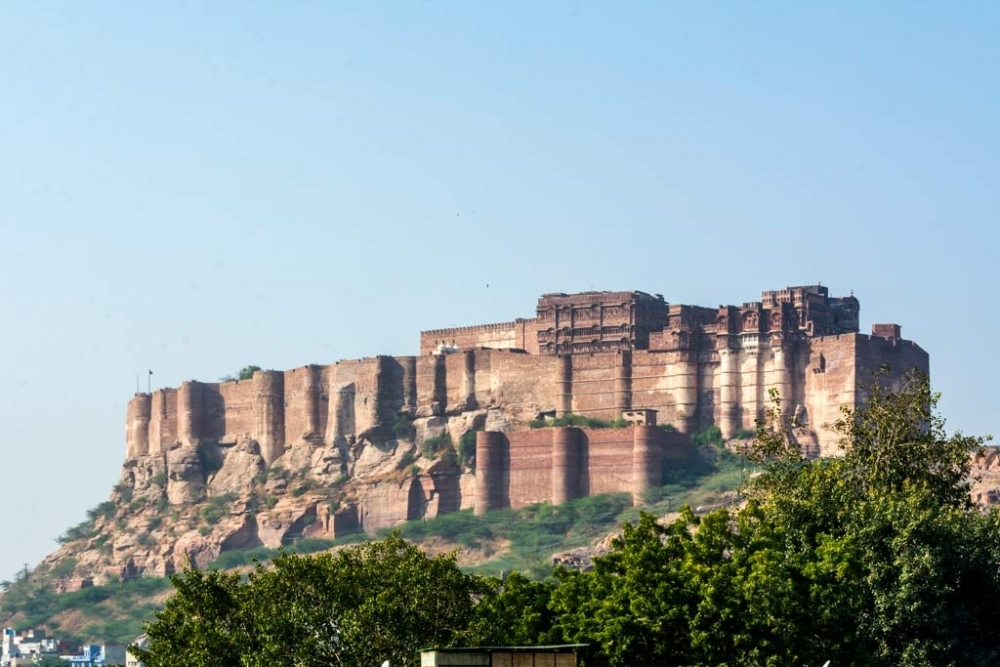 Fig. 7 View of Mehrangarh Fort