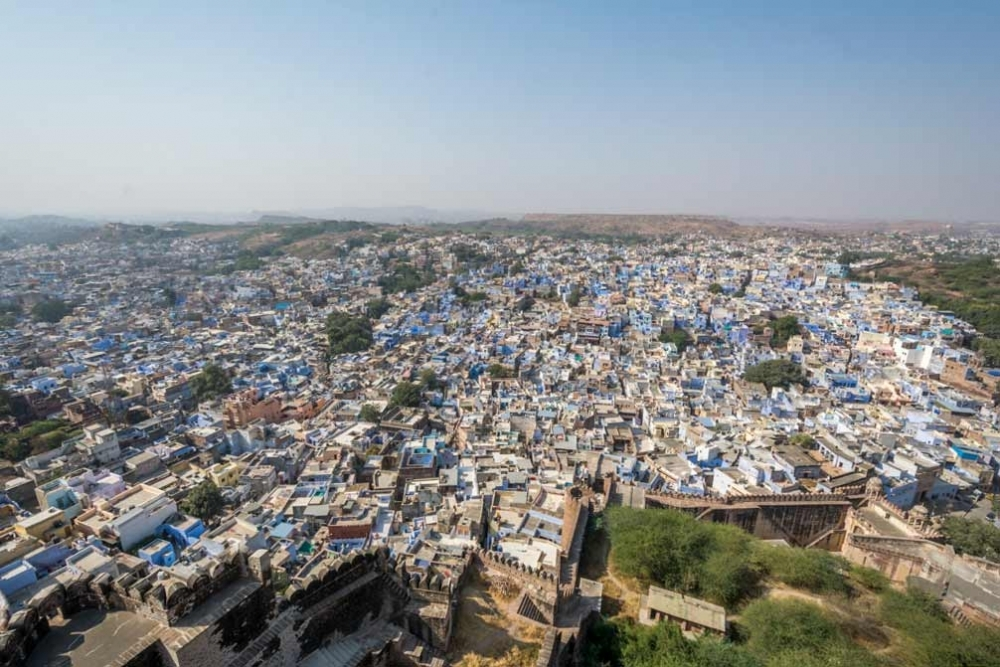 Fig 8. The view of Jodhpur city from the fort.
