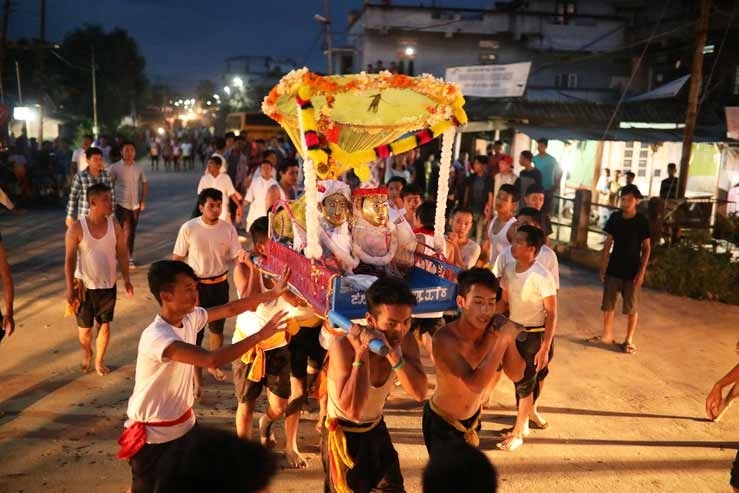 Fig. 13Lai lam thokpa or street procession of the shrine of Puthiba, Khurai, Imphal2017 (Courtesy: ©Soibam Pritam Singh).