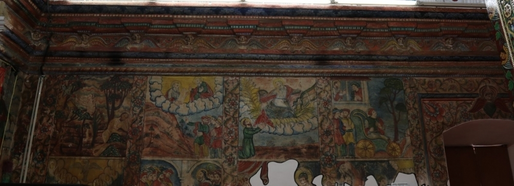 Fig.3 Murals on the northern wall (Courtesy: Mar Sabor and Afroth Yacobite Syrian Church, Angamaly: Mohamed 2016)