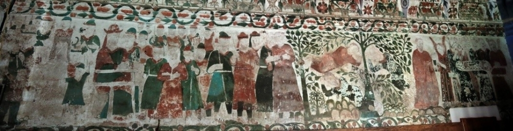 Fig.5 Murals on the northern wall (Courtesy: St. Mary's Church, Kottayam: Mohamed 2016)