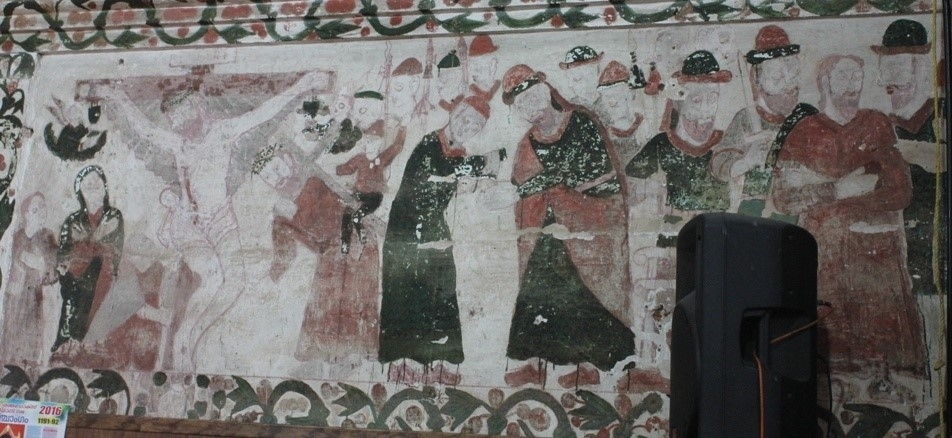 Fig.6 Murals on the southern wall (Courtesy: St. Mary's Church, Kottayam: Mohamed 2016)