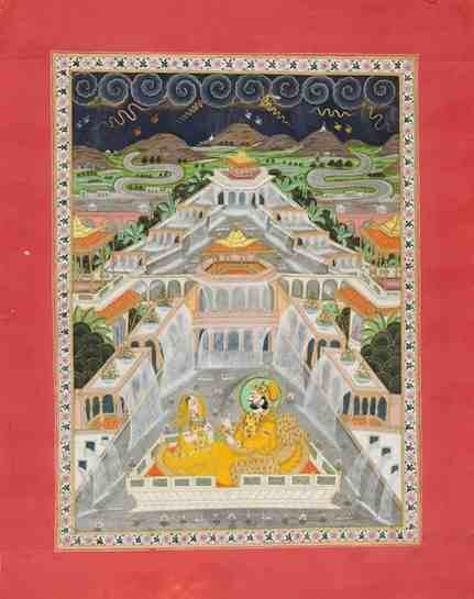 A miniature-style painting of Maharaja Takhat Singh and a companion taking delight in the rains, by Shivdas (c. 1843–73, Jodhpur), which is in the Meherangarh Fort collection (Photo courtesy: Mehrangarh Fort Museum via Laura Marsolek, published with permission)