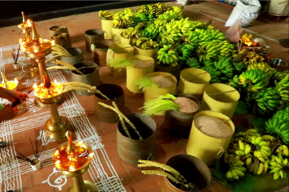 Offerings for Para Utsavam. (Image Courtesy: Sudheer Kailas)
