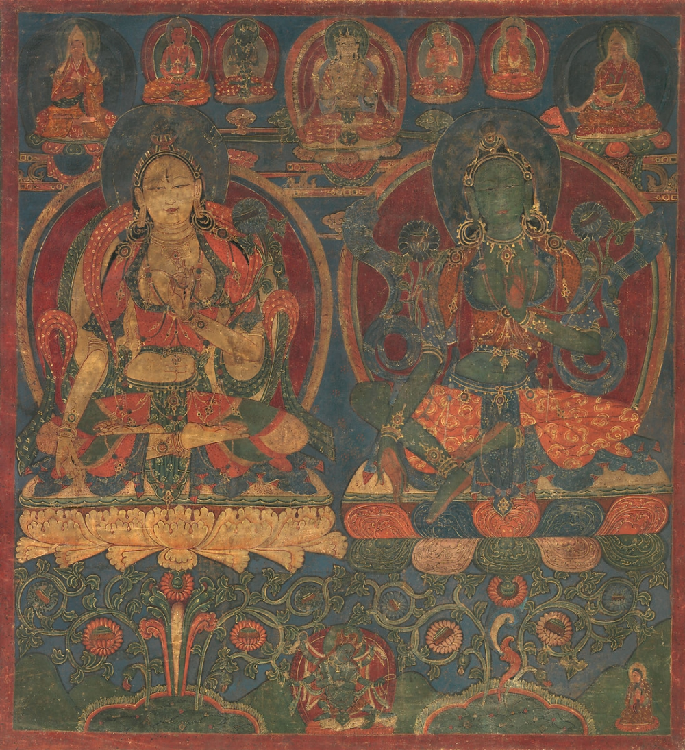 White Tara and Green Tara, c. 1450-1500