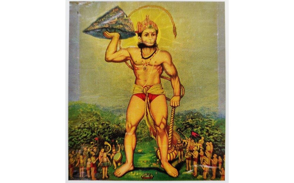 hanuman, hanuman olegraph, raja ravi varma press, who is hanuman, hanuman history