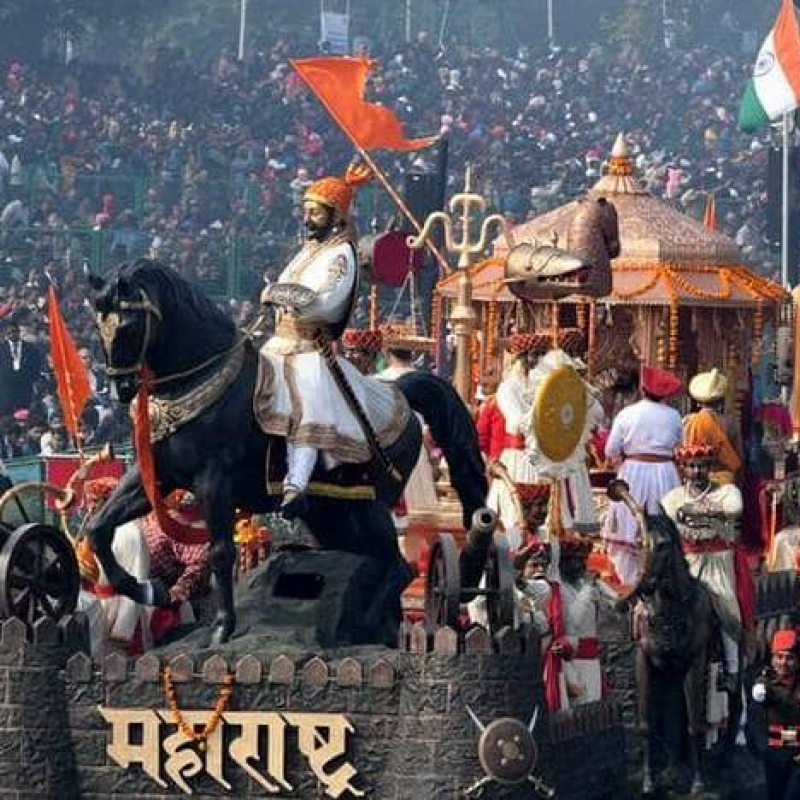 The Maharashtra jhanki at the Republic Day Parade in Delhi in 2018. Maharashtra won the best tableau prize in 2018. (Courtesy: The Hindu)