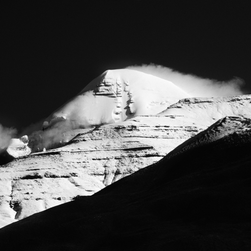 South face of Mount Kailash, seen from south of Tarchhen, Western Tibet.