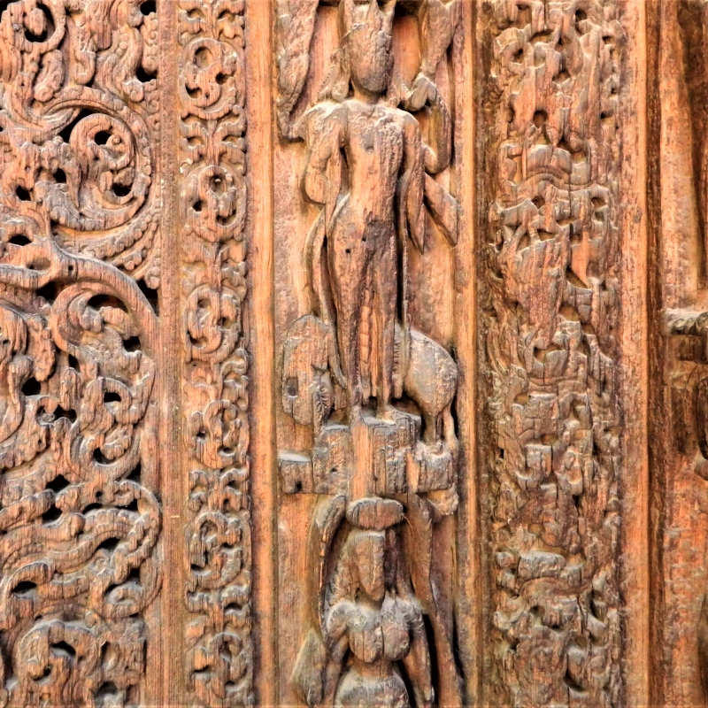 'Detail of the left frame of the door; Lakshana Devi Temple, Bharmour'
