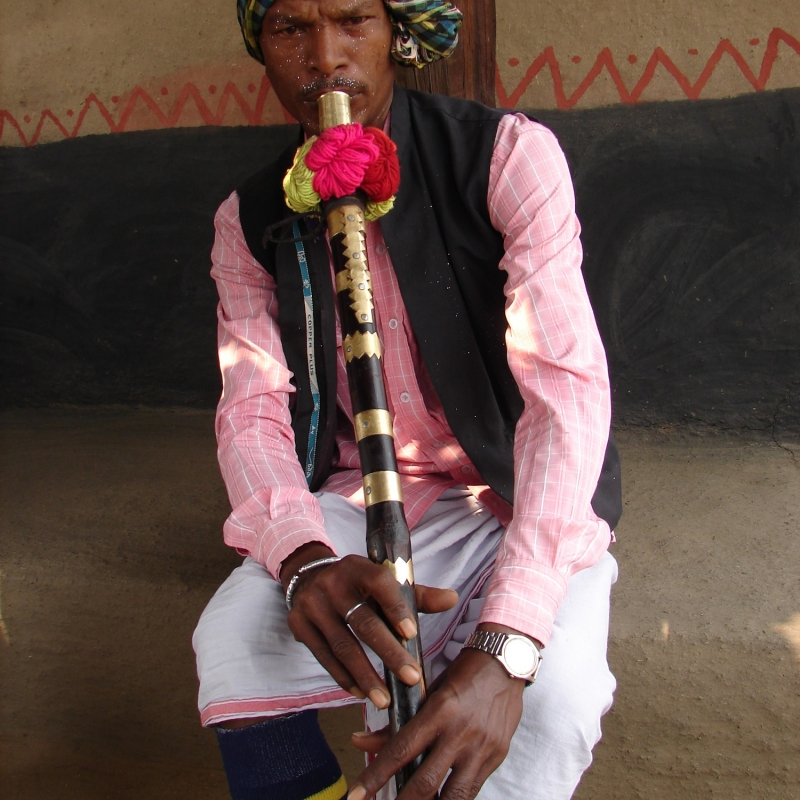 The baans,  played by Bisahar Ram Yadav