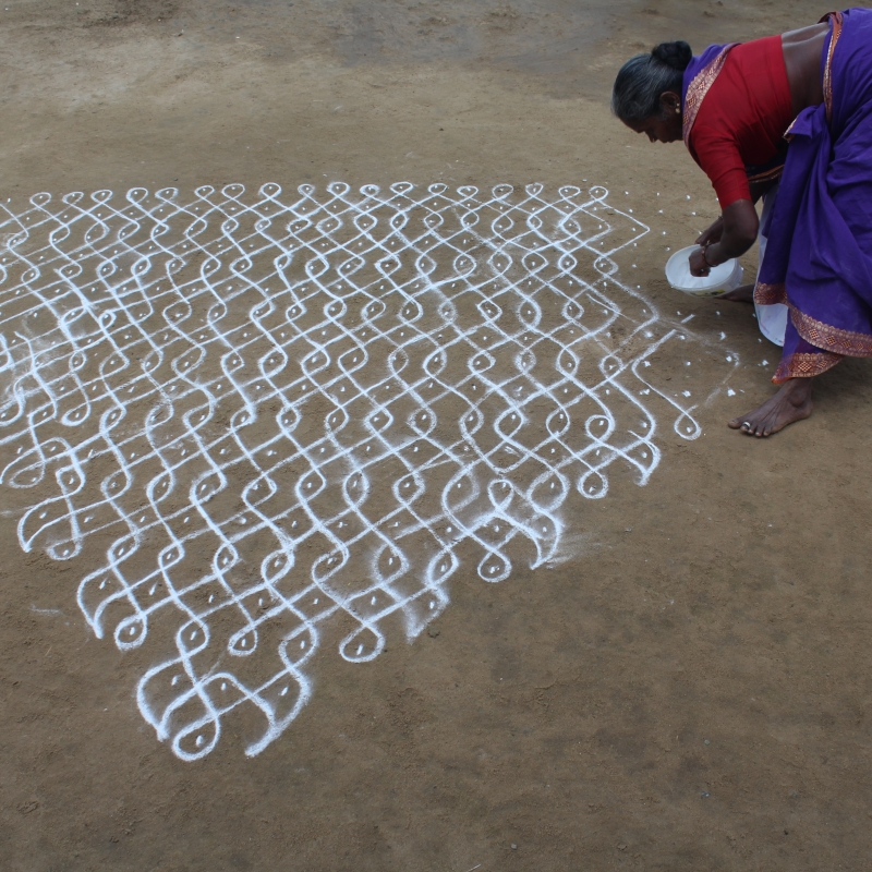 Mapping geometry and gender in Kolam