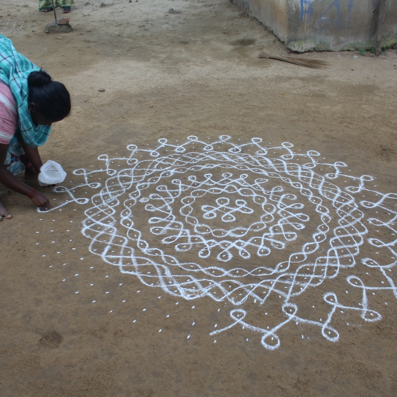 Significance of Kolam in Tamil Culture | Sahapedia
