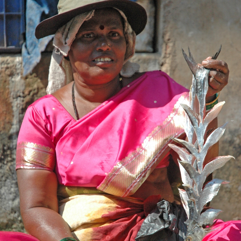 Konkani woman selling fish
