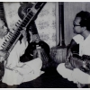 Legendary Bishnupur Gharana musician Gokul Nag (left) playing the sitar with his son Manilal Nag (right). (Courtesy: Sharmistha)