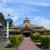 A concrete prayer hall in Chongkham Buddha Vihar, Chongkham, Namsai, Arunachal Pradesh, inaugurated on January 21, 1968, by Vishnu Sahay, then governor of Assam and Nagaland. Chongkham is an old settlement that dates to the eighteenth century; it is where the Tai-Khamptis, one of the major Theravada Buddhist communities of Arunachal Pradesh reside. Although there is no written record, according to oral narratives, this monastery was built when the village was established.