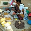 Lac being bartered for papad at a haat in Bastar. Photo courtesy: Arunopol Seal