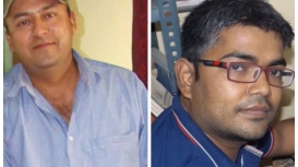 Comic book collector Hasan Zaheer on the left, and writer and comic book illustrator Shambhu Nath Mahto on the right (Courtesy: Hasan Zahar and Shambhu Nath Mahto)