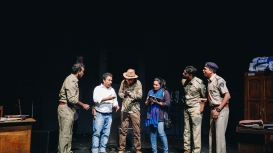 A still from the play 'Accidental death of an anarchist' (Courtesy: Budhan Theatre)