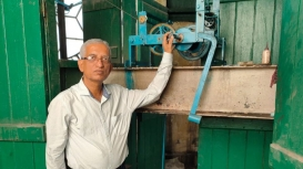 Swapan Dutta is a descendant of the Dutta family, whose members have been taking care of Kolkata's clock towers for the past four generations, and are famously known as the'timekeepers' of the city (Courtesy: Anjali Jain)